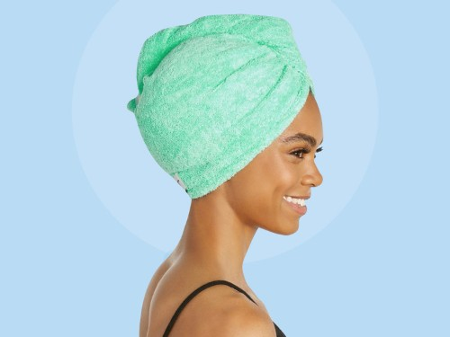This $10 hair towel is deceptively simple — it's literally just a towel with some small design tweaks, but I swear by it for drying my hair quickly