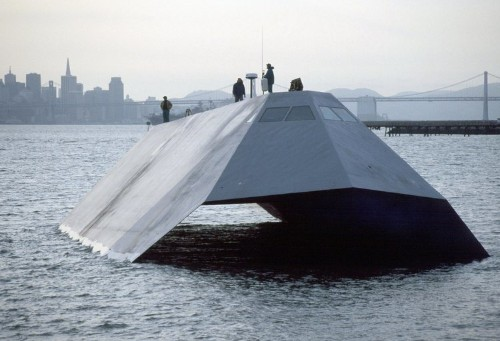 This was the US Navy's cutting-edge stealth ship
