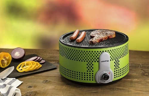 This travel grill emits so little smoke you can use it indoors