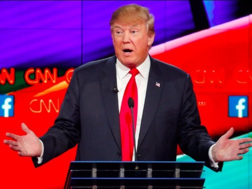 Donald Trump confronts audience after he gets booed at debate