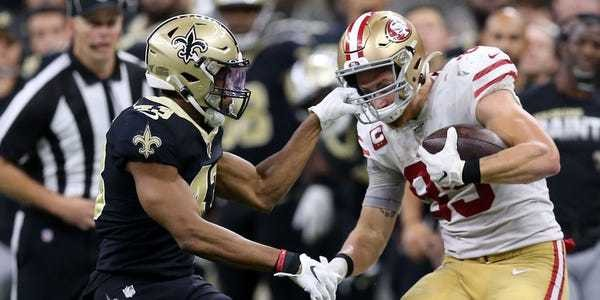 George Kittle was thrilled when his defender grabbed his face mask - Business Insider
