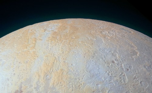 NASA just released an incredible photo of Pluto's frozen canyons