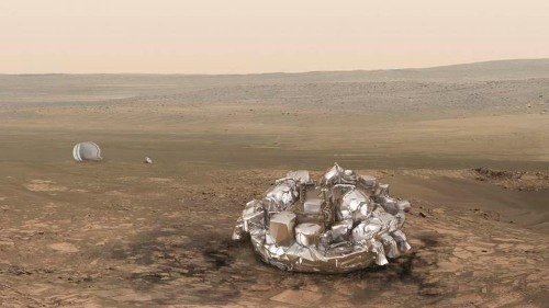 European Space Agency: Experimental probe crash-landed and may have exploded when it hit the surface of Mars