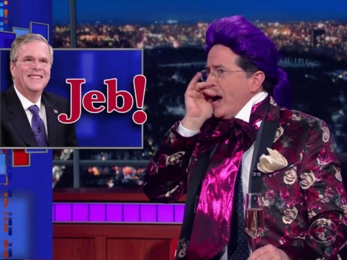 Stephen Colbert had the most brutal one-liner to describe Jeb Bush's dead campaign