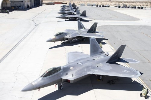 The last time you'll ever see 7 F-22s at Edwards Air Force Base