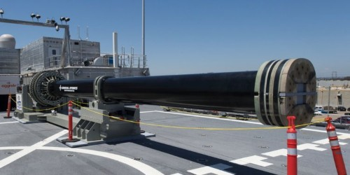 The Navy's electromagnetic railgun is undergoing 'shakedown' tests at a missile range