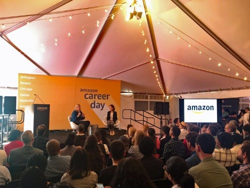 Amazon Career Day drew large crowds of job seekers in Arlington