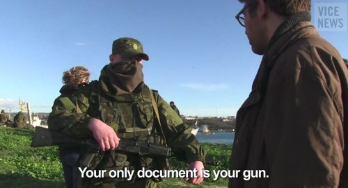 Vice Reporter In Crimea Challenges Russian Soldiers: 'Are You Going To Shoot Me?'