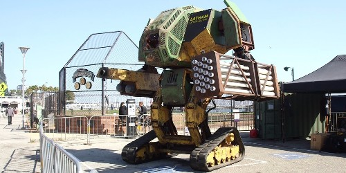 This American mega robot was built to fight another giant robot from Japan
