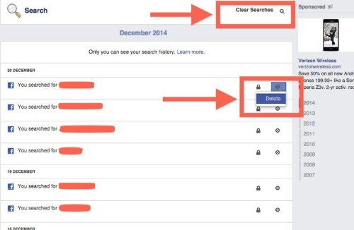 How To Erase Everything You Search For On Facebook