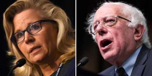 Rep. Liz Cheney bashes Bernie Sanders on Twitter and calls him a 'commie' with 'daddy issues' with 'my daddy'
