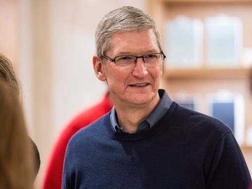 Tim Cook speaks at town hall