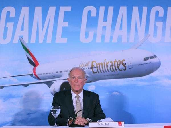 Emirates' Tim Clark warns airline industry to embrace technology - Business Insider