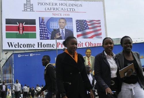 Obama upbeat on Africa on eve of Kenya, Ethiopia trip