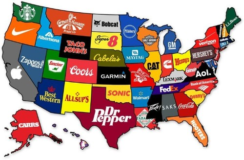 This Map Shows The Most Famous Brand From Every State