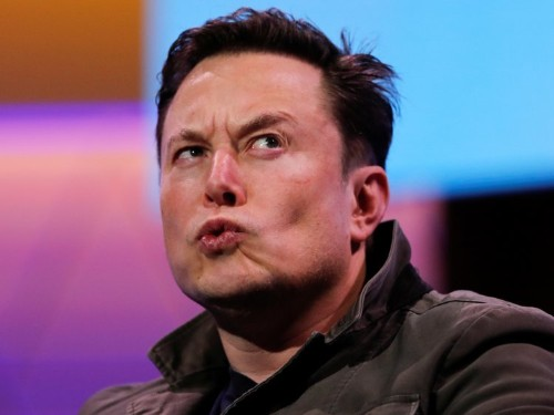 Elon Musk tweeted an 'Occupy Mars' meme, but he was mocked because it featured a picture of the moon