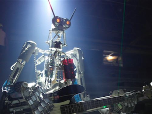 A German rock band made of robots is raising money on Kickstarter to build themselves a singer