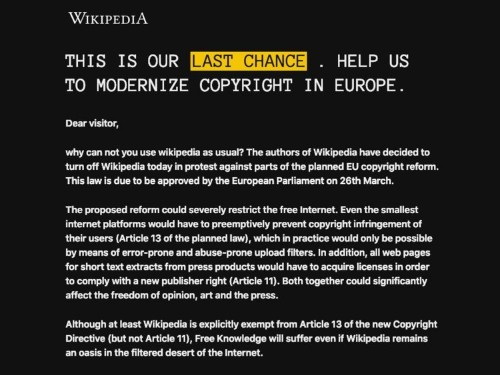Reddit, Wikipedia, and PornHub are strong-arming users into protesting against laws that could change the face of the internet in Europe