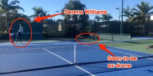 Serena Williams blasting a quadcopter with a tennis ball provides an important lesson about anti-drone defense