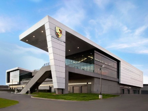Check out Porsche's new $100-million US headquarters — it's like Disneyland for car lovers