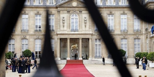 Photos show the inside of Élysée Palace, the French White House