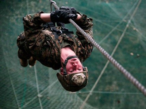 A former Marine uses the '2-minute rule' to help mental toughness clients tackle stress at work