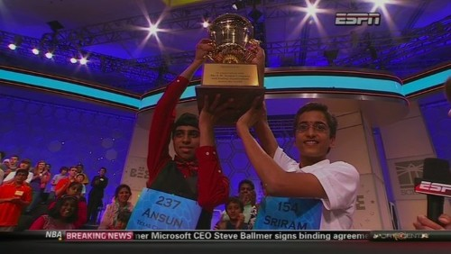 Spelling Bee Cochampion Sriram Hathwar Had The Perfect Response To Sharing The Trophy
