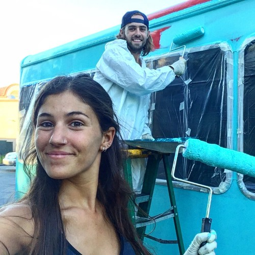 A couple is spending their honeymoon traveling across the US in a converted school bus — and their photos are incredible