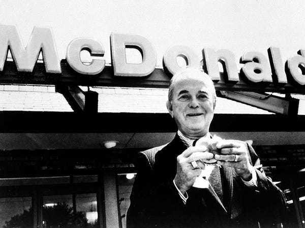 How the legendary founder of McDonald's created his own luck - Business Insider