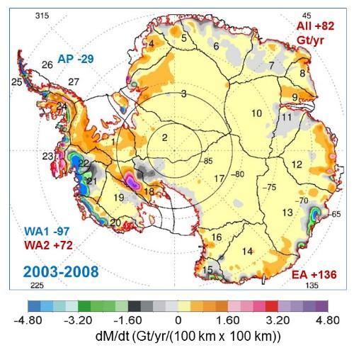 Antarctica gains enough ice each year to bury Rhode Island 85 feet deep