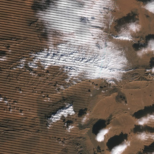 Snowfall was recorded in the Sahara Desert for the first time in 37 years — and the satellite imagery is gorgeous
