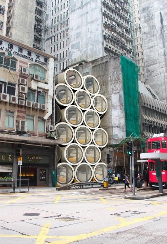 Hong Kong is so expensive that architects are building 100-square-foot 'tube homes' made from concrete water pipes