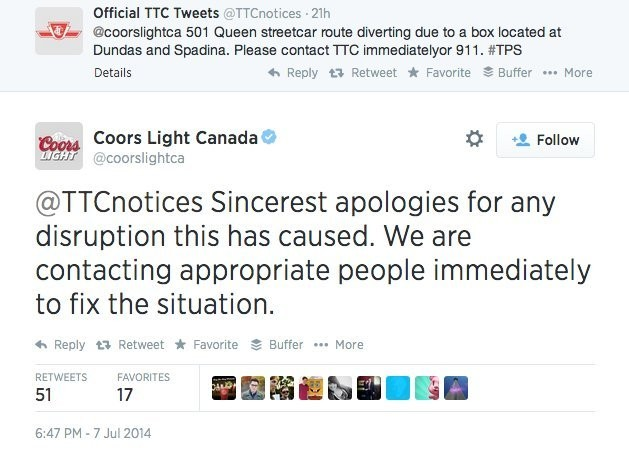 Coors Light Causes Bomb Scare And Traffic Jam In Canada After Publicity Stunt Gone Wrong