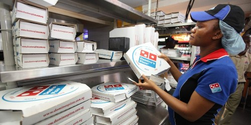 Food-delivery services can't seem to pull people away from the 23 pounds of pizza they eat every year (UBER, GRUB, DPZ)