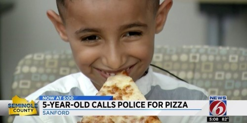 A 5-year-old Florida boy called 911 to order a pizza and cops actually delivered him a pie