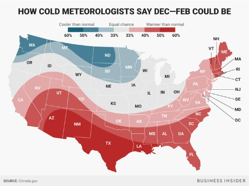 Winter 2017 weather forecast by region: Mild and snowy for much of US