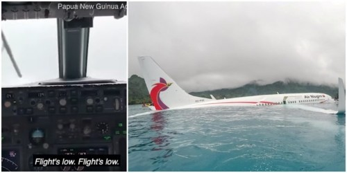 Cockpit video shows Air Niugini Boeing 737 hit lagoon