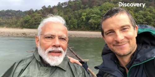 India's Modi appears in Bear Grylls show as Kashmir remains cut off