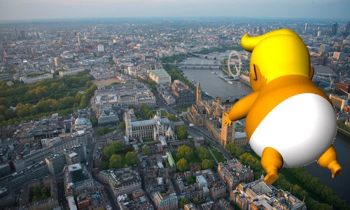 A balloon of Trump as a 20-foot-tall angry baby has been cleared to fly over London for his diplomatic visit next week