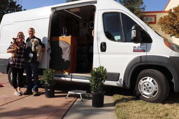 Tour a couple's tiny house that is a 72-square-foot van - Business Insider
