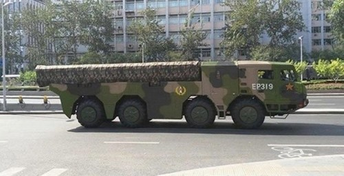 China debuted its new ballistic missiles during a practice military parade