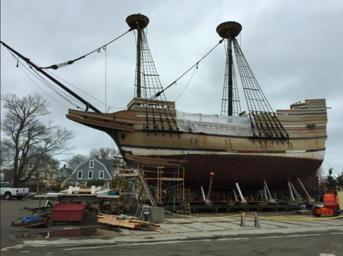 The Mayflower was startlingly short and fat