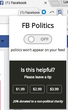This Google Chrome extension weeds out politics from your Facebook