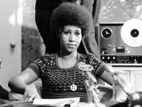 Photos show Aretha Franklin's life charting historical American events - Business Insider