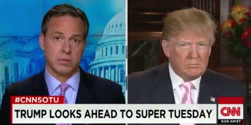 CNN anchor Jake Tapper asks Donald Trump 3 times if he would condemn David Duke and the KKK