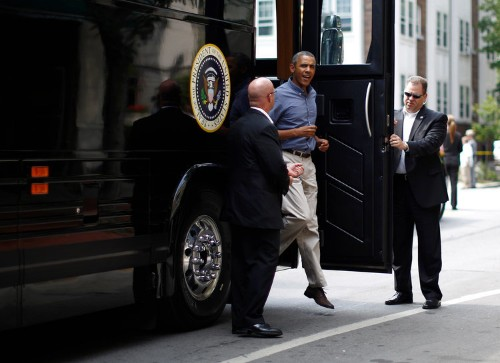 Meet Ground Force One, the president's $1.1 million armored bus