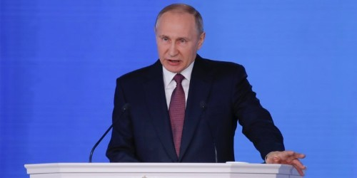 Putin said Russia has developed a new generation of unstoppable nuclear weapons — and showed an animation of them heading for the US