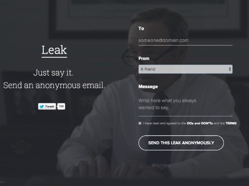Leak, The Website That Lets You Send Anonymous Emails With Clues, Shuts Down After Getting Kicked Off Its Own Email Server