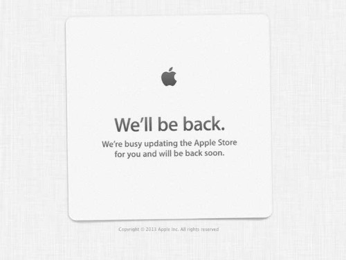 The Apple Store Is Down