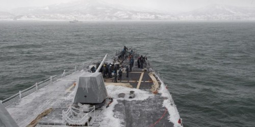 US Navy destroyer checks Russia in the Pacific after Putin's forces attacked Ukraine